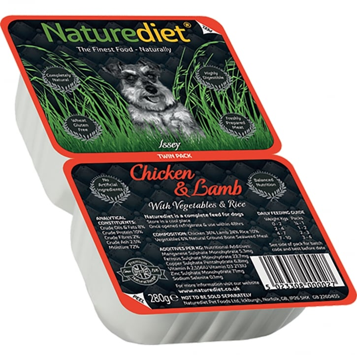 Naturediet Chicken & Lamb With Vegetables & Rice 280g Twin Pack