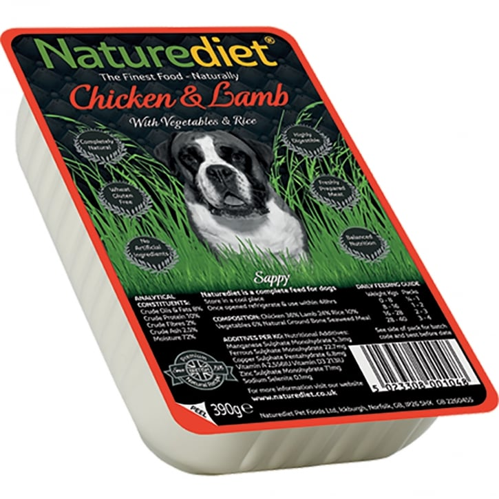 Naturediet Chicken & Lamb With Vegetables & Rice 390g