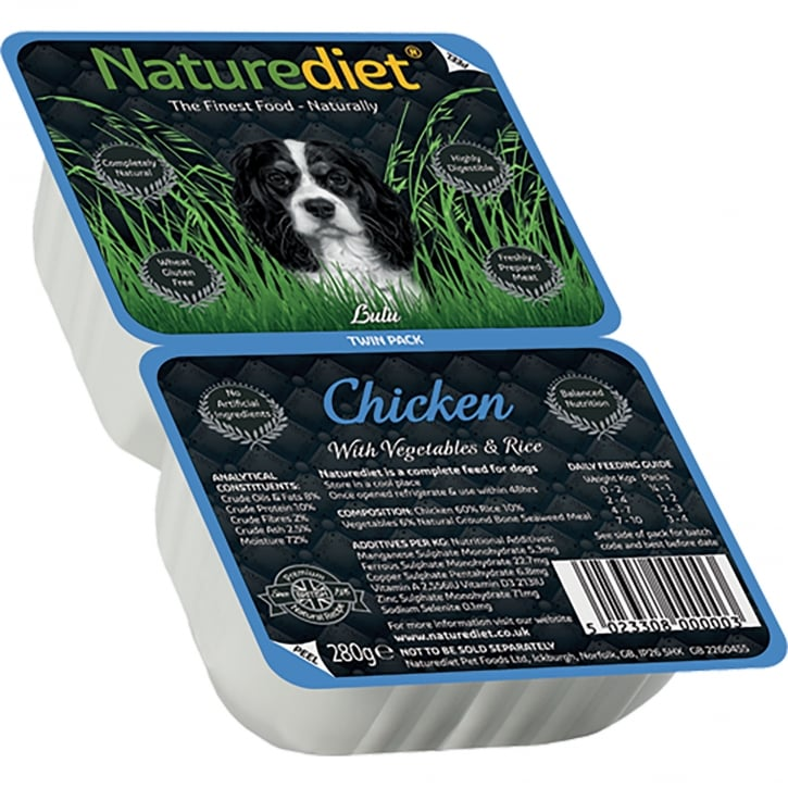 Naturediet Chicken With Vegetables & Rice 280g Twin Pack