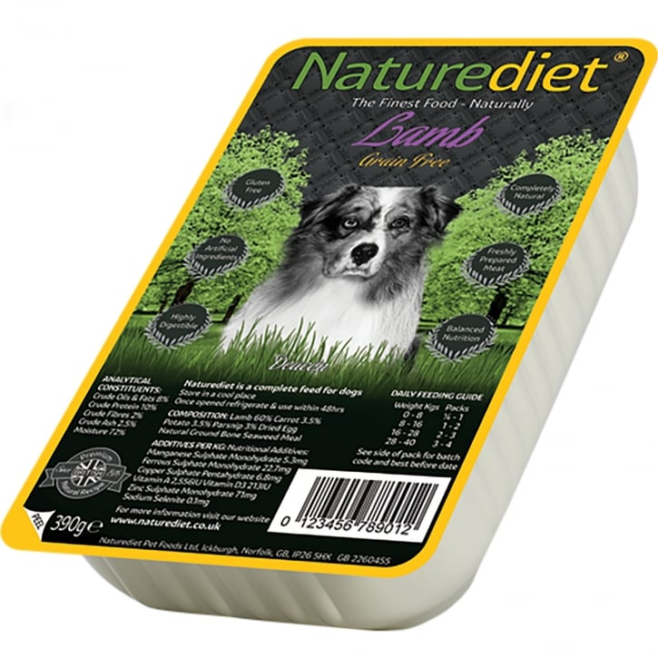 Naturediet Grain Free Lamb 390g