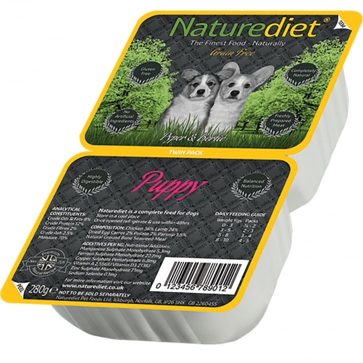 Naturediet Grain Free Puppy 280g Twin Pack