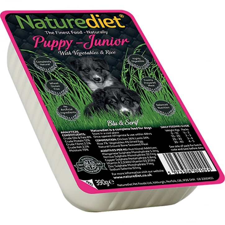 Naturediet Puppy - Junior With Vegetables & Rice 390g