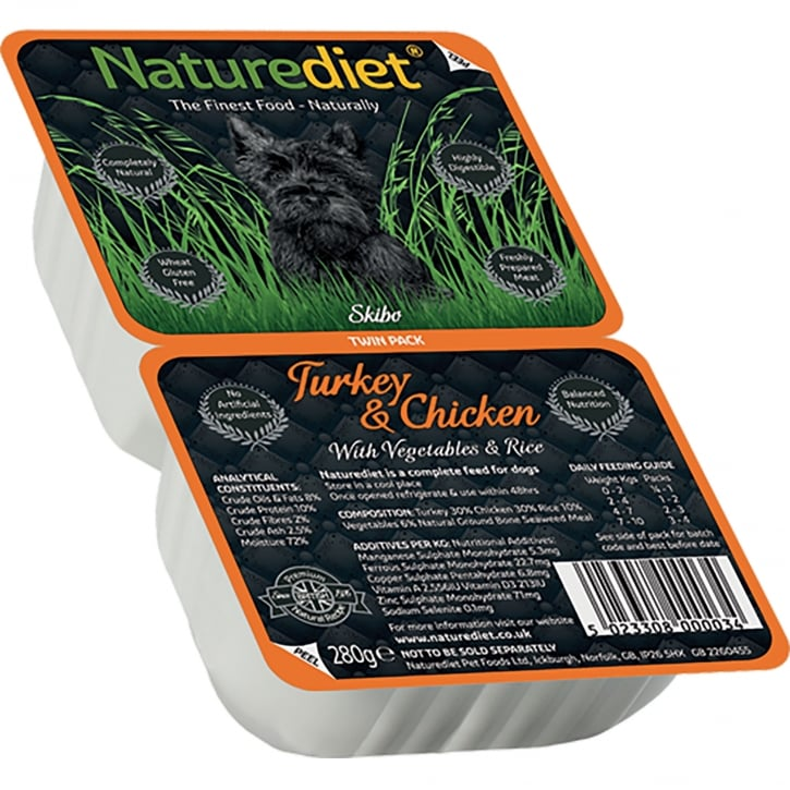 Naturediet Turkey & Chicken With Vegetables & Rice 280g Twin Pack
