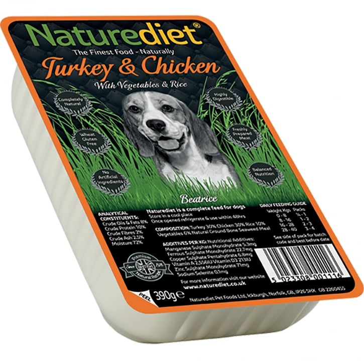 Naturediet Turkey & Chicken With Vegetables & Rice 390g