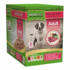 Adult Beef With Tripe Pouch For Dogs 8 x 300g