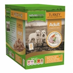 Adult Turkey With Chicken Pouch For Dogs 8 x 300g