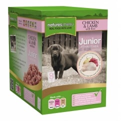 Junior Chicken & Lamb Meal Pouch For Junior Dogs 8 x 300g
