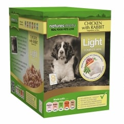 Light Chicken with Rabbit Pouch For Dogs 8 x 300g