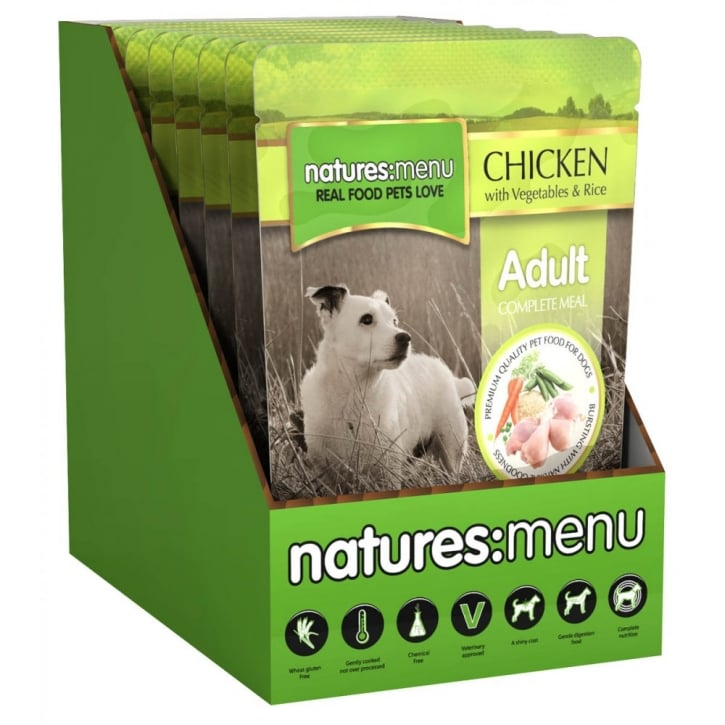 Natures Menu Natures Menu Adult Dog Complete Food Chicken Veg & Rice 8x300gm