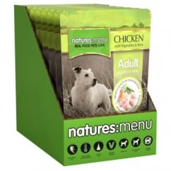 Natures Menu Adult Dog Complete Food Chicken Veg & Rice 8x300gm