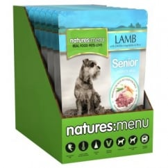 Natures Menu Senior Dog Complete Food - Lamb,Veg & Rice 8x300gm