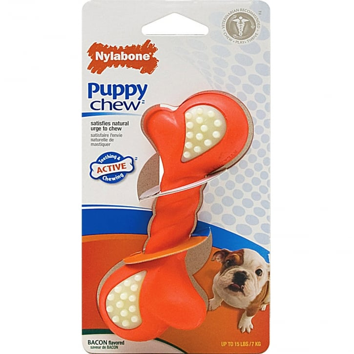 Nylabone Puppy Chew Double Action Bone - Medium