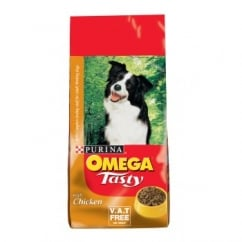 Omega Tasty Adult Working Dog Food Chicken & Rice 15kg Vat Free