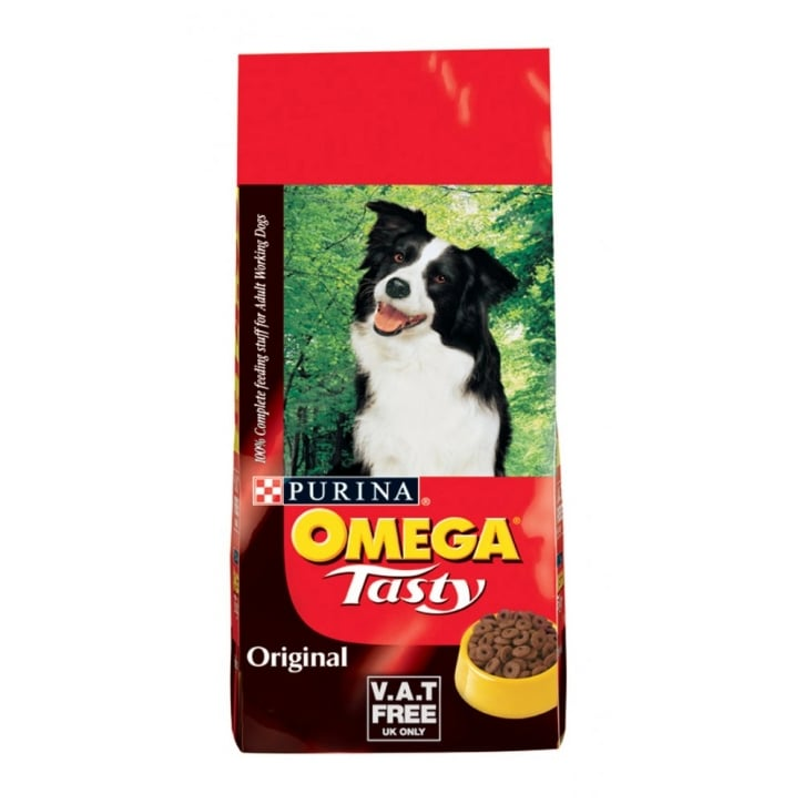 Omega Tasty Original Adult Working Dog Food 15kg Vat Free