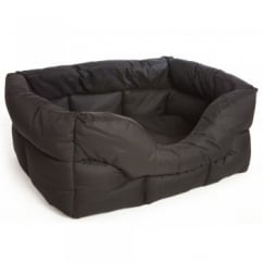Country Dog Heavy Duty Rectangular Waterproof Softee Beds Black Medium 57x47x24cm