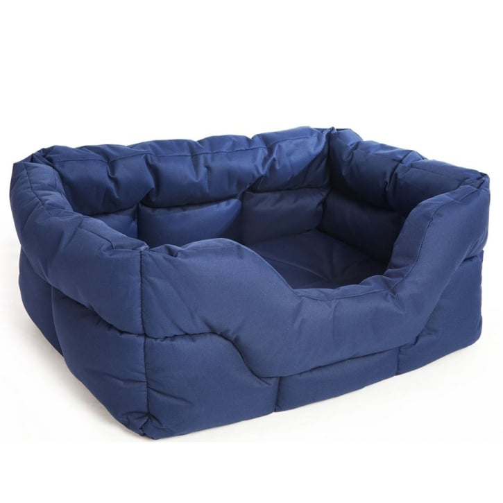 P & L Superior Pet Beds Country Dog Heavy Duty Rectangular Waterproof Softee Beds Blue Jumbo 88x72x35cm