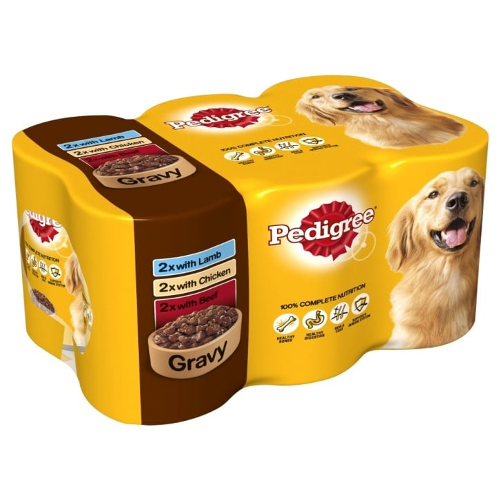 Pedigree Can In Gravy Multipack 400gm 6 Pack