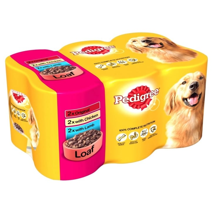Pedigree Chunks In Loaf Multipack 385gm 6 Pack