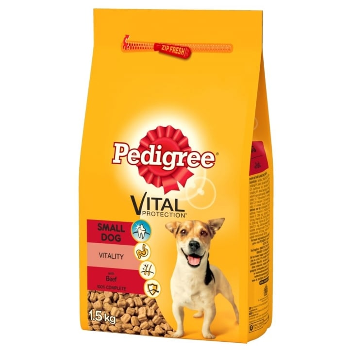 Pedigree Complete Adult Small Breed Dog Food- Chicken & Veg 1.4kg
