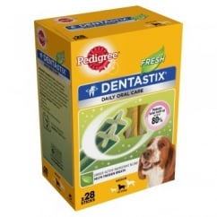 Daily Dentastix Fresh 28 Sticks for Medium Dogs 10 to 25kg