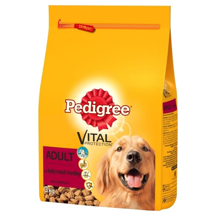 Pedigree Dry Adult Complete Dog Food with Tasty Meat Medley & Veg 3kg