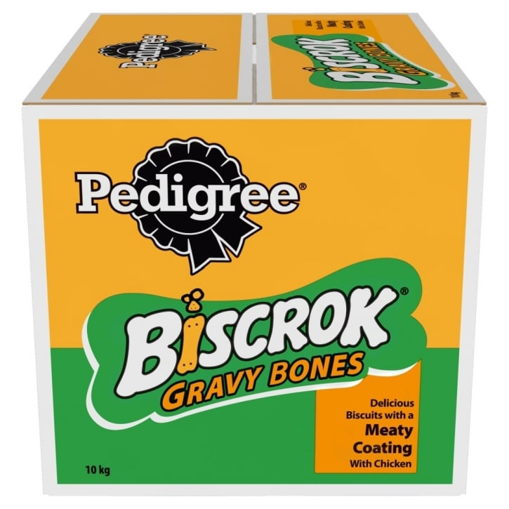 Pedigree Gravy Bones Dog Biscuit Treat - Chicken Flavour 10kg