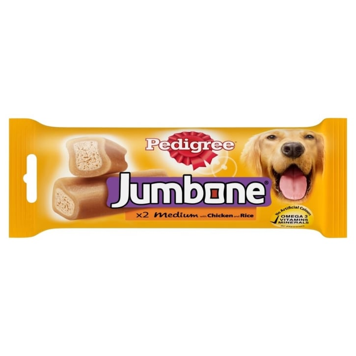 Pedigree Jumbone Chicken & Rice 2 Piece Medium Dogs