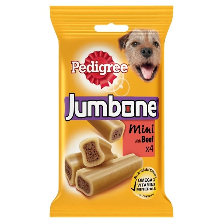 Pedigree Jumbone Mini with Beef 4 Chews 180gm