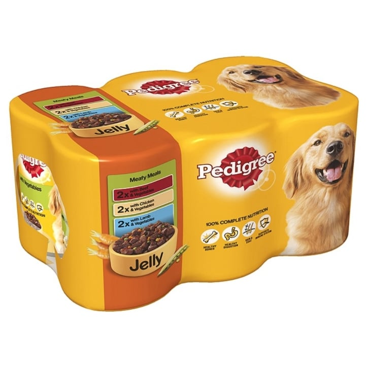 Pedigree Meaty Meals In Jelly 400gm 6-pack
