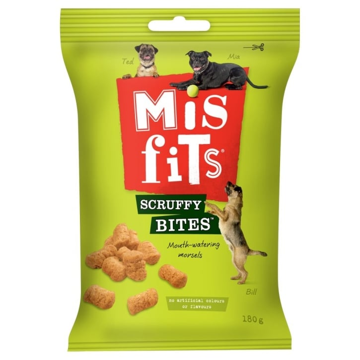 Pedigree Misfits Scruffy Bites 180gm