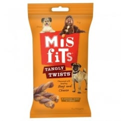 Misfits Tangly Twists Beef and Cheese 140gm