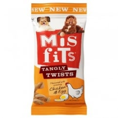 Pedigree Misfits Tangly Twists Chicken & Egg 140gm