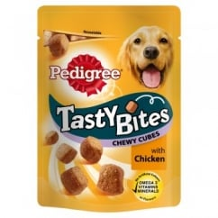 Pedigree Tasty Bites Chewy Cubes with Chicken 130gm