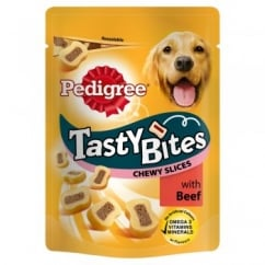 Pedigree Tasty Bites Chewy Slices Dog Treat with Beef 155gm
