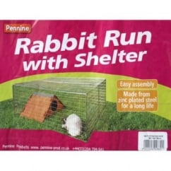 Wire Rabbit Run With Shelter