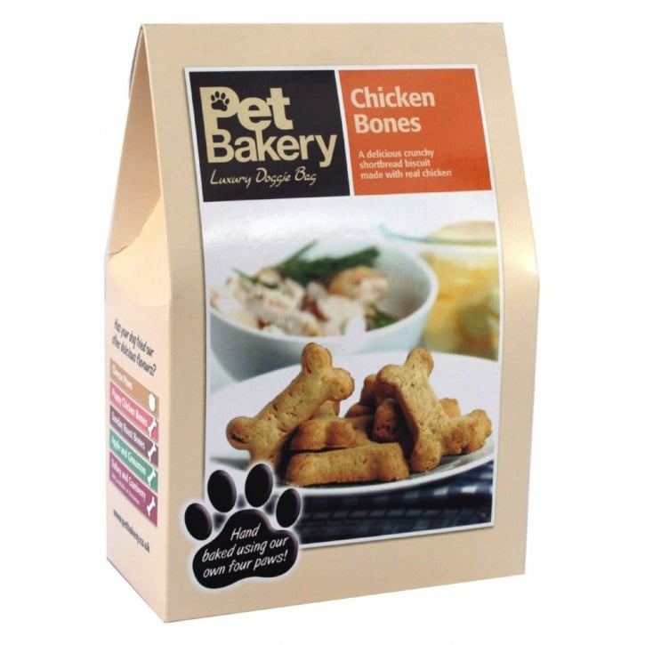 Pet Bakery Chicken Bones Dog Treat 240gm box