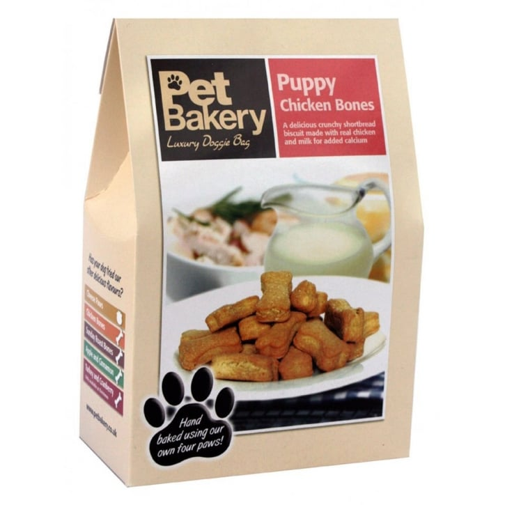 Pet Bakery Chicken Bones Puppy Dog Treat 240gm box