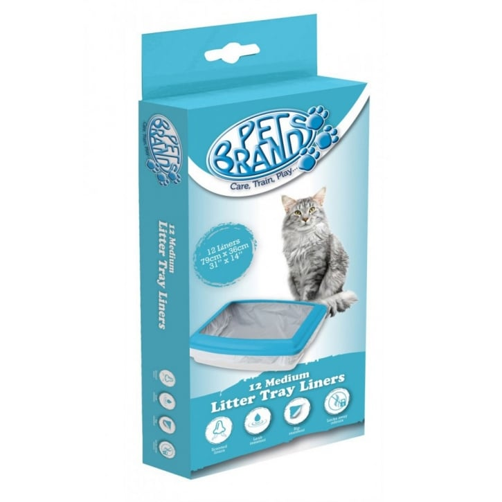 Pet Brands Cat Litter Tray Liners - Medium