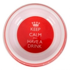 Pet Brands Keep Calm and Have A Drink Water Melamine Bowl