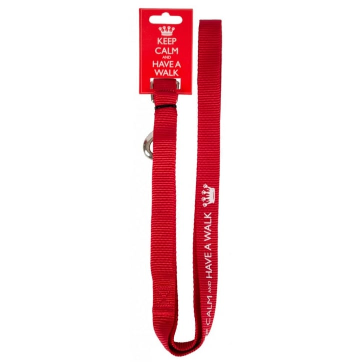 Pet Brands Keep Calm and Have a Walk Dog Lead Medium/Large
