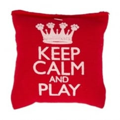 Pet Brands Keep Calm and Play Cat Nip Pillow Cat Toy