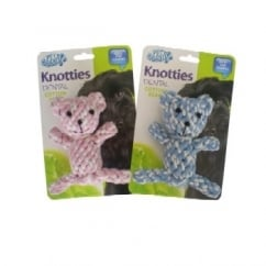 Pet Brands Knotties Dental Cotton Bear Dog Play Toy