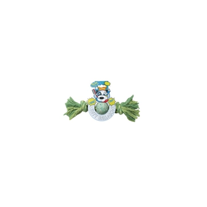 Pet Brands Minty Ball & Bone Dog Play Toy - Small