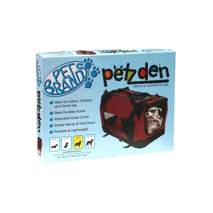 Pet Brands Petzden Canvas Fold Flat Pet Carrier - Extra Large