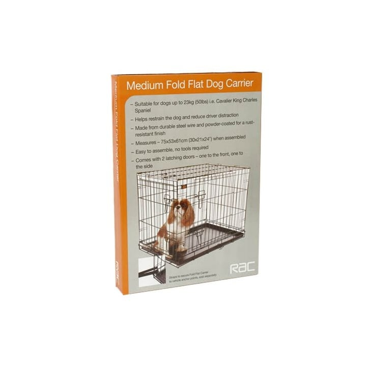 Pet Brands Rac Fold Flat Dog Carrier - Medium