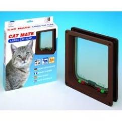 Cat Mate 4 Way Locking Large Cat/small Dog Flap 221 Brown