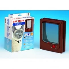 Cat Mate Electromagnetic Cat Flap 254 Brown