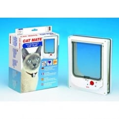 Cat Mate Electromagnetic Cat Flap 254 White