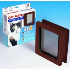 Cat Mate Lockable Cat Flap/door With Door Liner Brown
