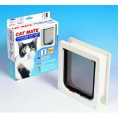 Cat Mate Lockable Cat Flap/door With Door Liner - White
